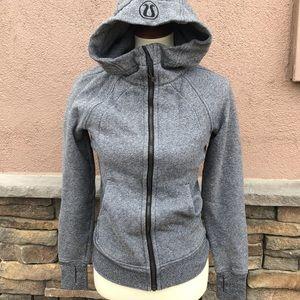 Lululemon Gray scuba hooded sweatshirt